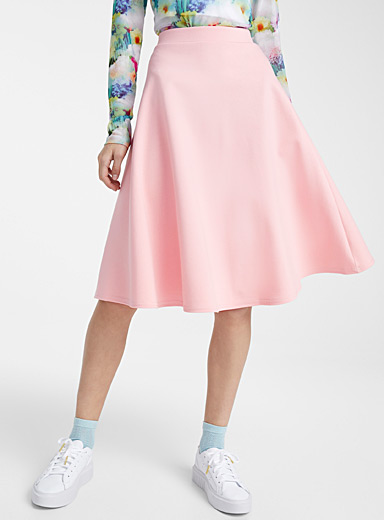 Twik Pink Structured jersey midi skirt for women