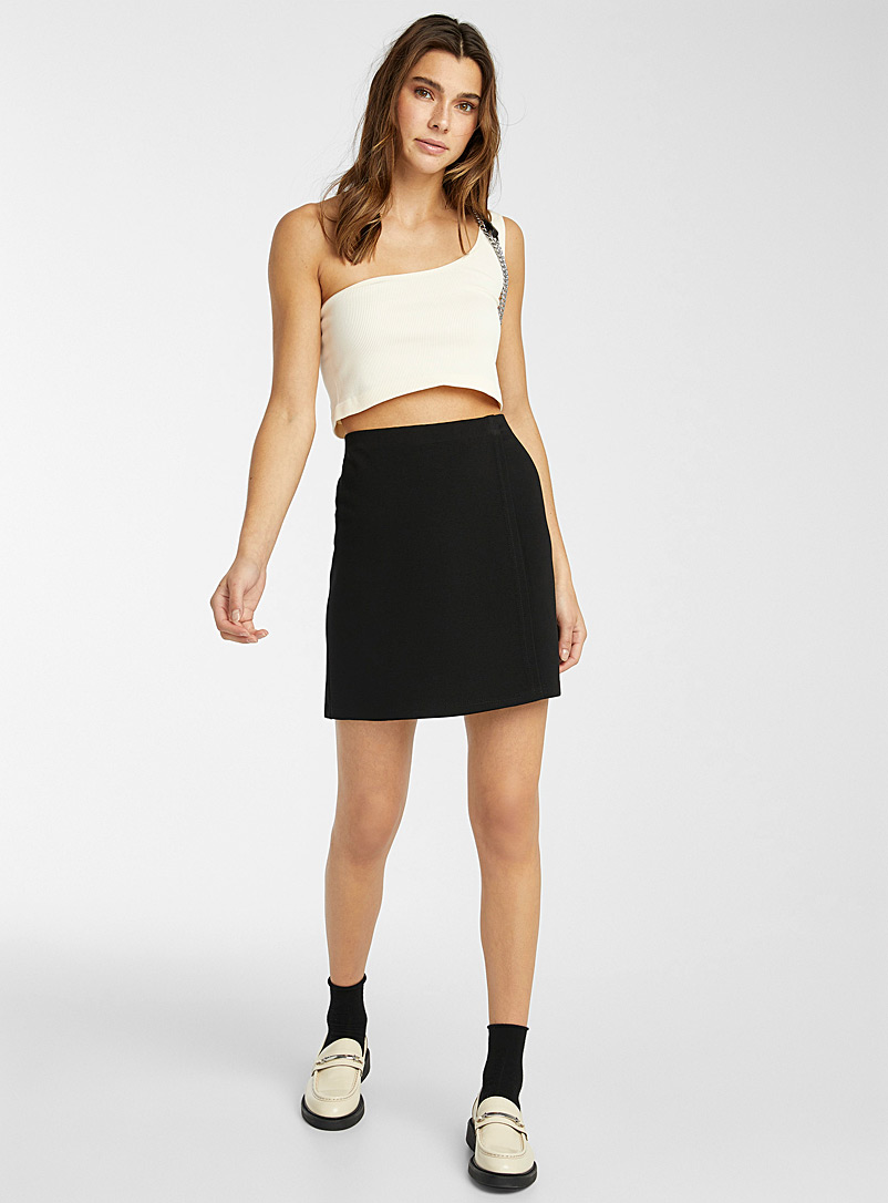 Wrap miniskirt - Short - Black