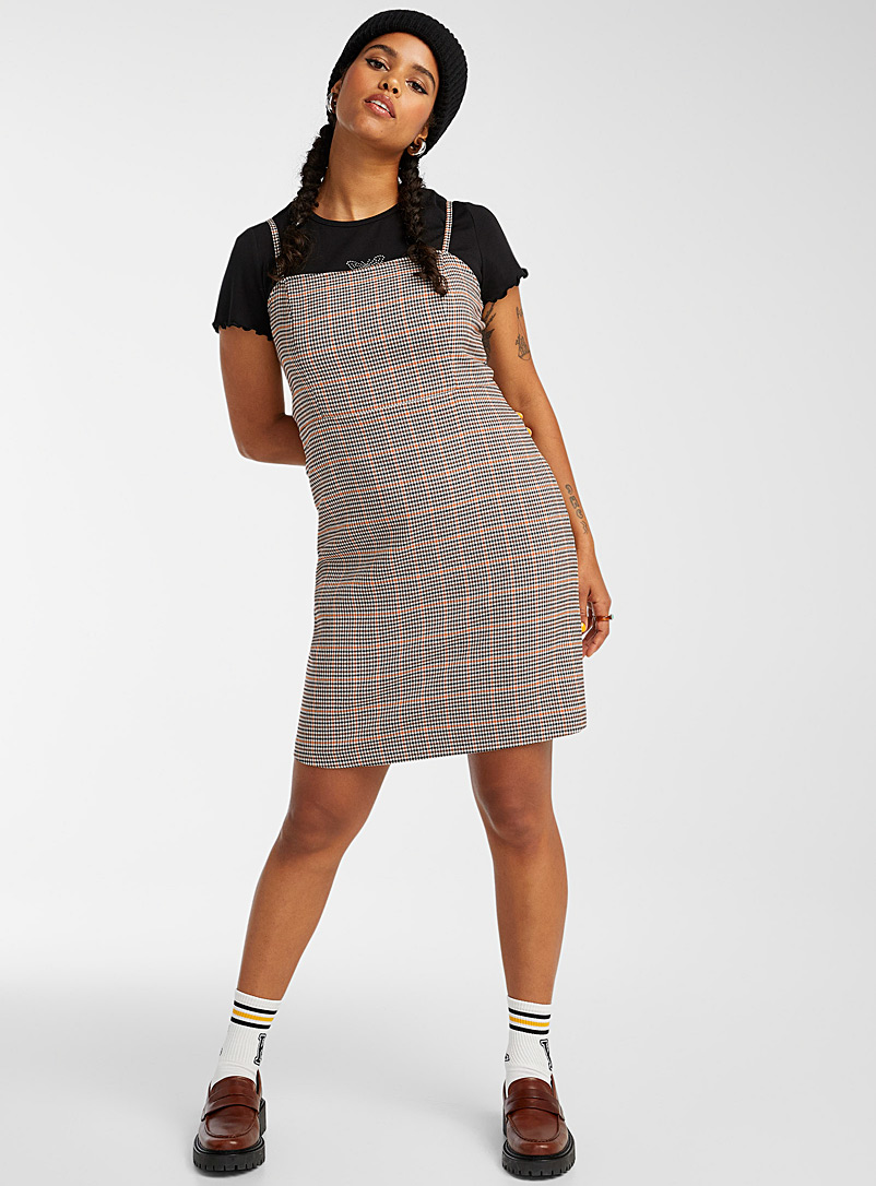 Square-neck spaghetti-strap dress