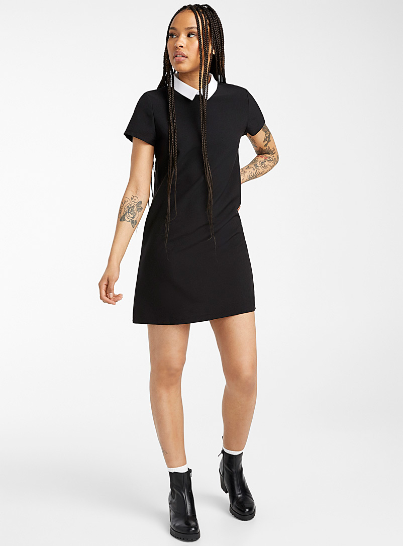 Twik Black Checkered shirtdress for women