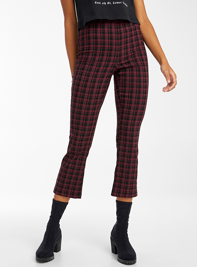 Twik Patterned Red Ultra stretch flared pant for women