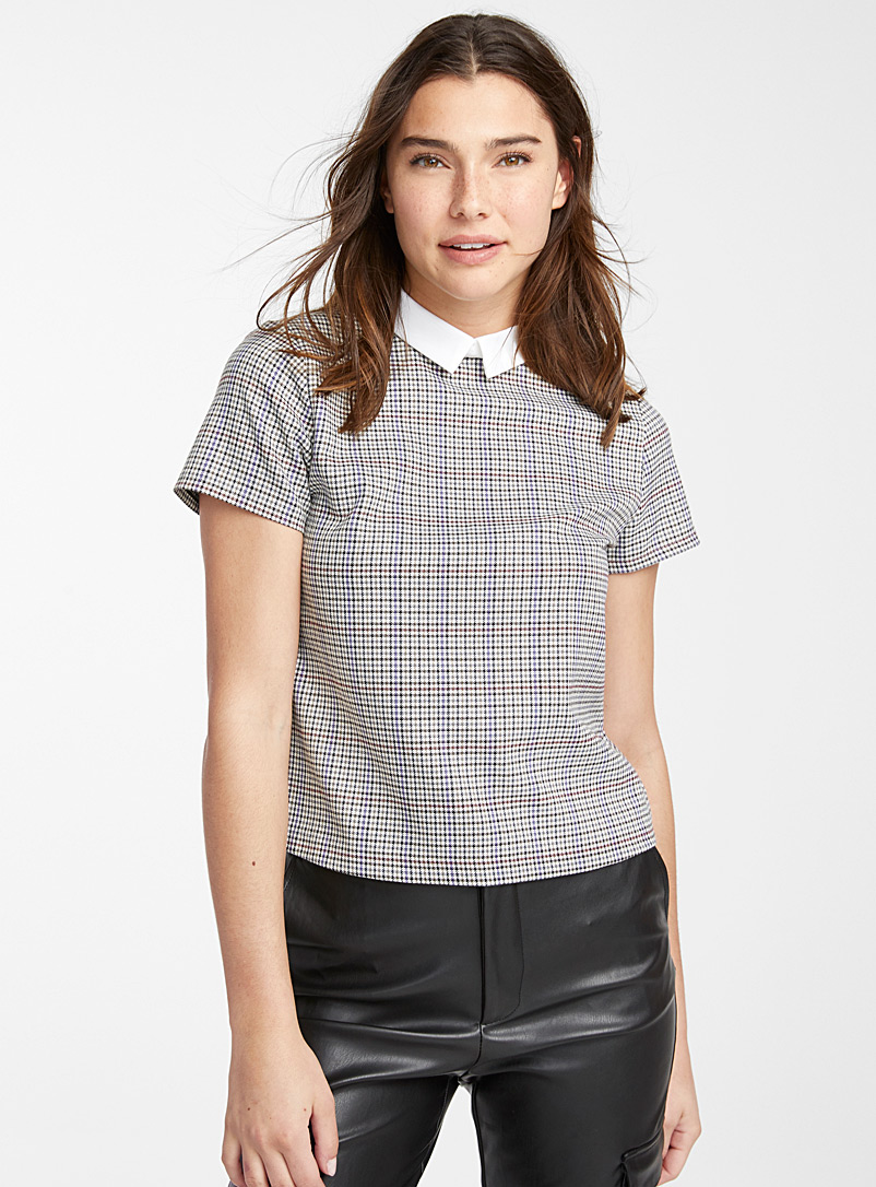 Pointed Peter Pan collar blouse - Blouses - Assorted