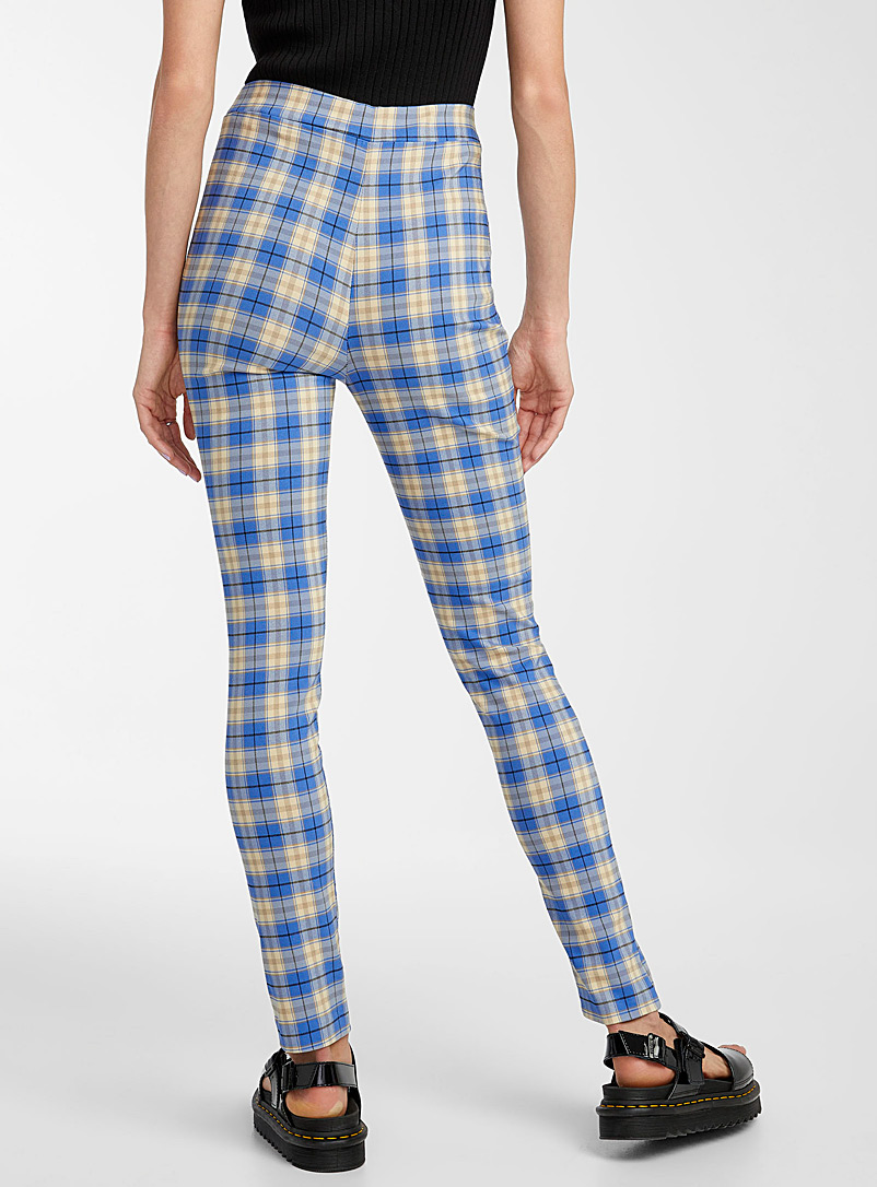 Twik Patterned Green Check stretch legging for women