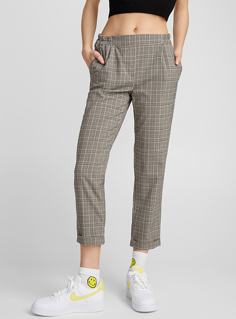 Checked ankle-length pant - Semi-Slim - Pearly