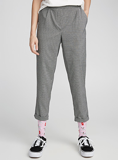 Checked ankle-length pant