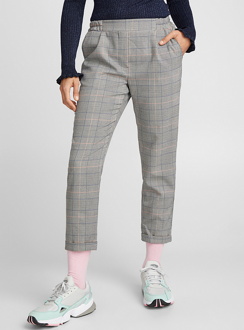 Checked ankle-length pant - Semi-Slim - Oxford