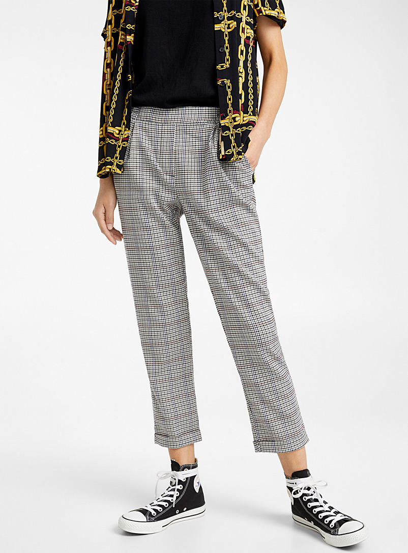 Twik Brown Woven ankle-length pant for women