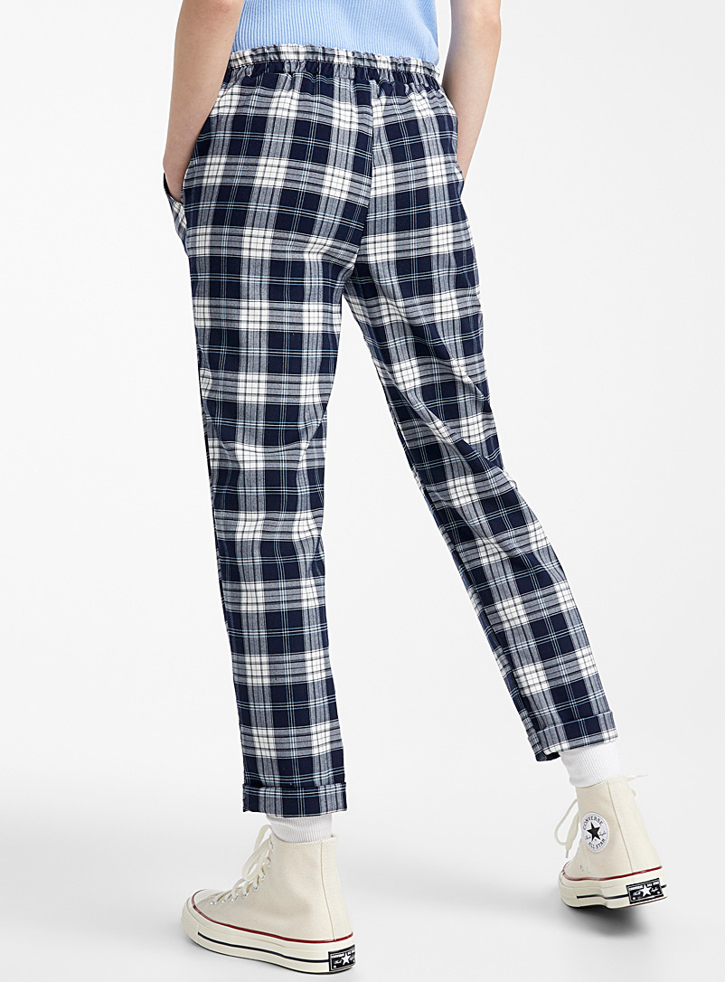Woven ankle-length pant - Semi-Slim - Slate Blue