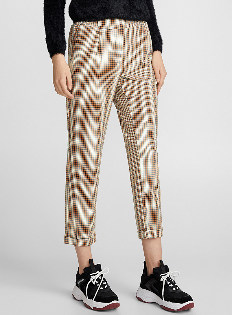 Checked ankle-length pant - Semi-Slim - Assorted