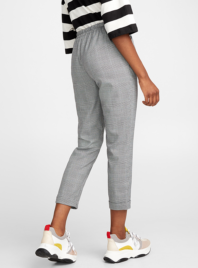 Checked ankle-length pant - Semi-Slim - Patterned Grey