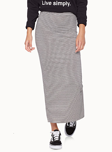 Essential striped maxi skirt