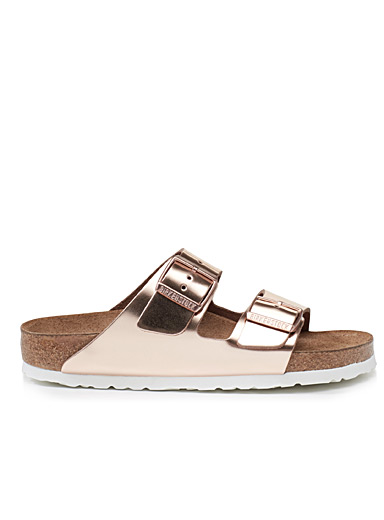 Metallic Arizona sandals