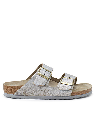 Faded metallic Arizona sandals