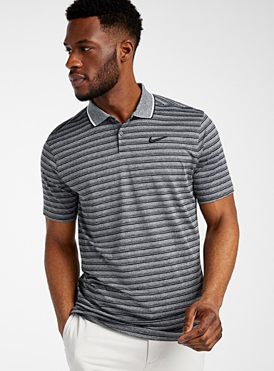 Vapor heather striped polo