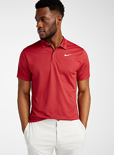 Nike Golf Red Victory logo solid polo for men