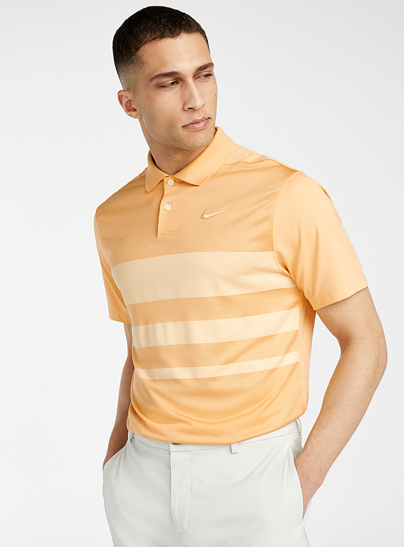 Nike Golf Fawn Vapor asymmetric stripe polo for men