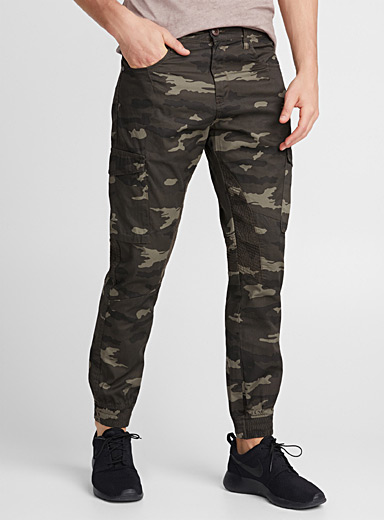 Camouflage moto joggers