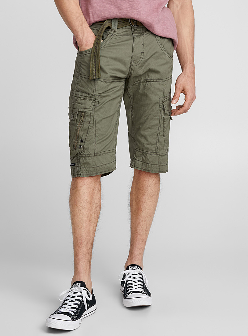 Cotton canvas bermudas - Bermudas - Khaki