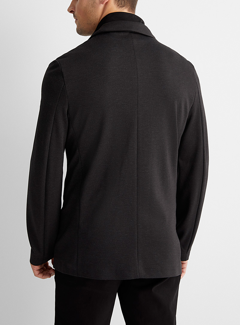 Le 31 Charcoal Stretch 2-in-1 jacket  Semi-slim fit for men