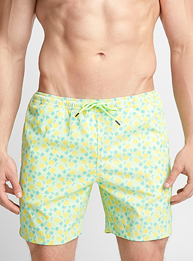 Pineapple stretch swim trunk