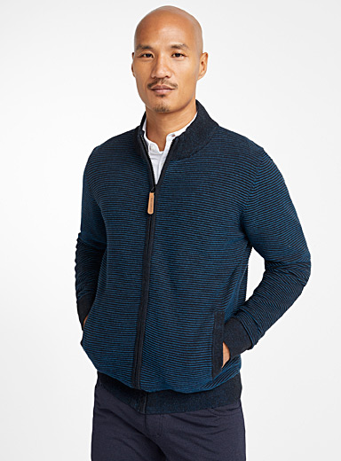 Ribbed accent cardigan