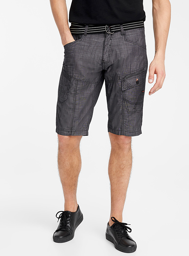 black-chambray-bermudas