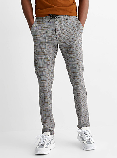 Acti Flex check pant Slim fit