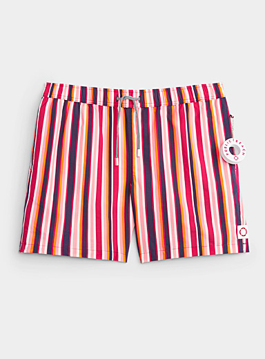 Le maillot short rayures verticales