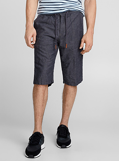 Linen and cotton bermudas <br>