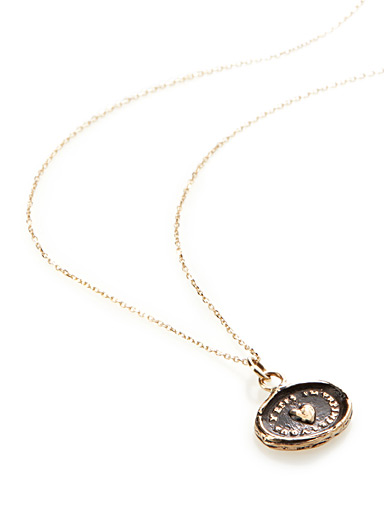 Heart Print pendant necklace
