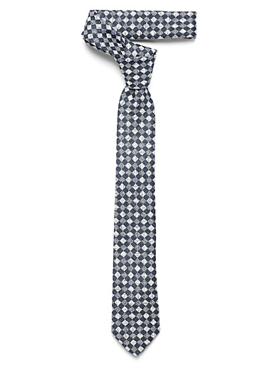 Heather checkerboard tie