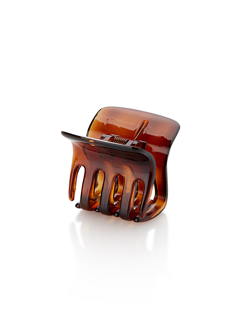 Square crab clip - Barrettes and Clips - Light Brown
