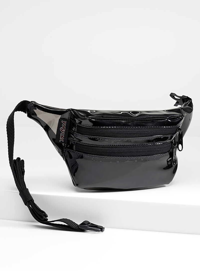 Translucent plastic belt bag - Belt Bags - Black