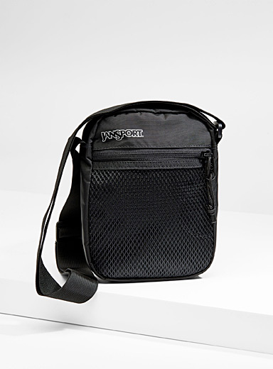 Mesh pocket shoulder bag