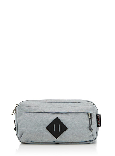 Faux-leather logo waist pack