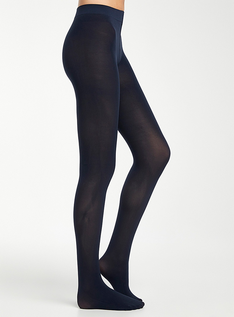 Simons Marine Blue Voltera luxurious microfibre tights for women