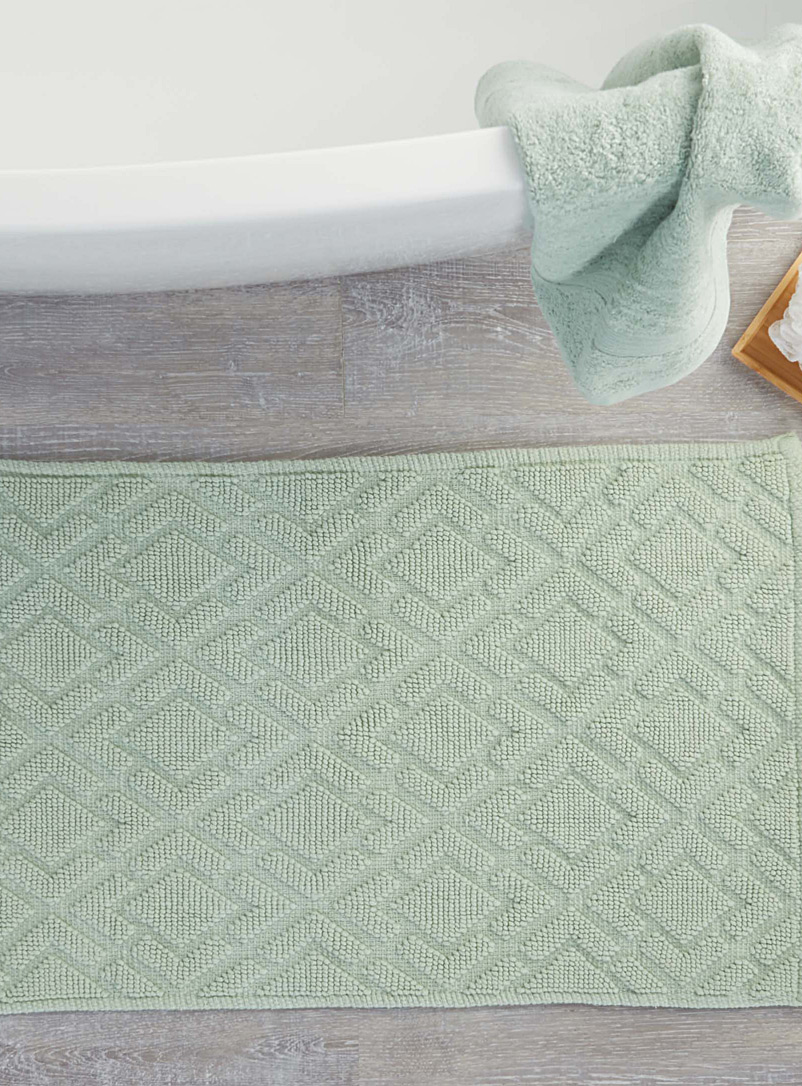 Embossed diamond bath mat  50 x 80 cm - Solid - Teal