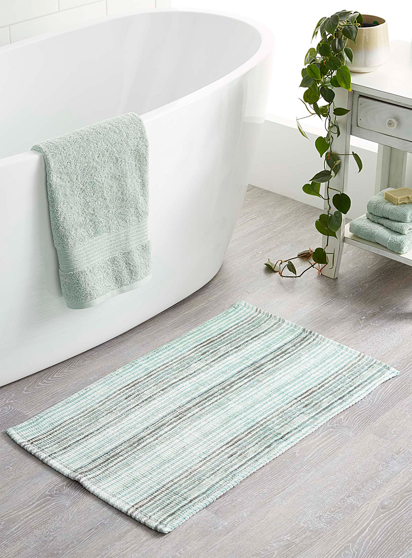 Simons Maison Assorted Moss-green geological stripe bath mat  50 x 80 cm