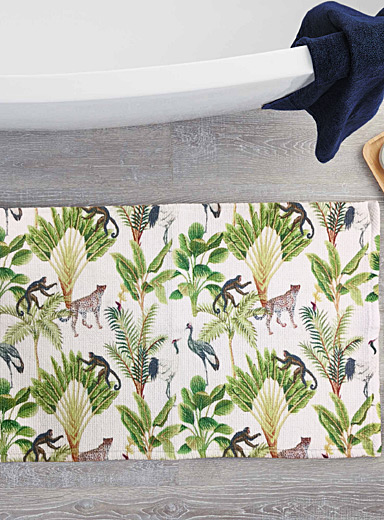 Simons Maison Assorted Wild jungle bath mat  50 x 80 cm