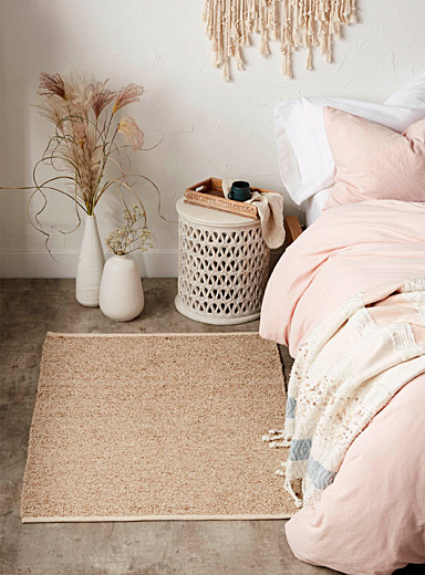 Jute and cotton rug <br>90 x 130 cm