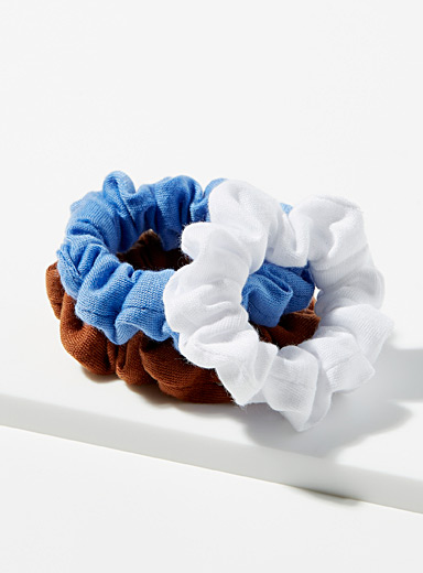 Colourful jersey scrunchies Set of 3
