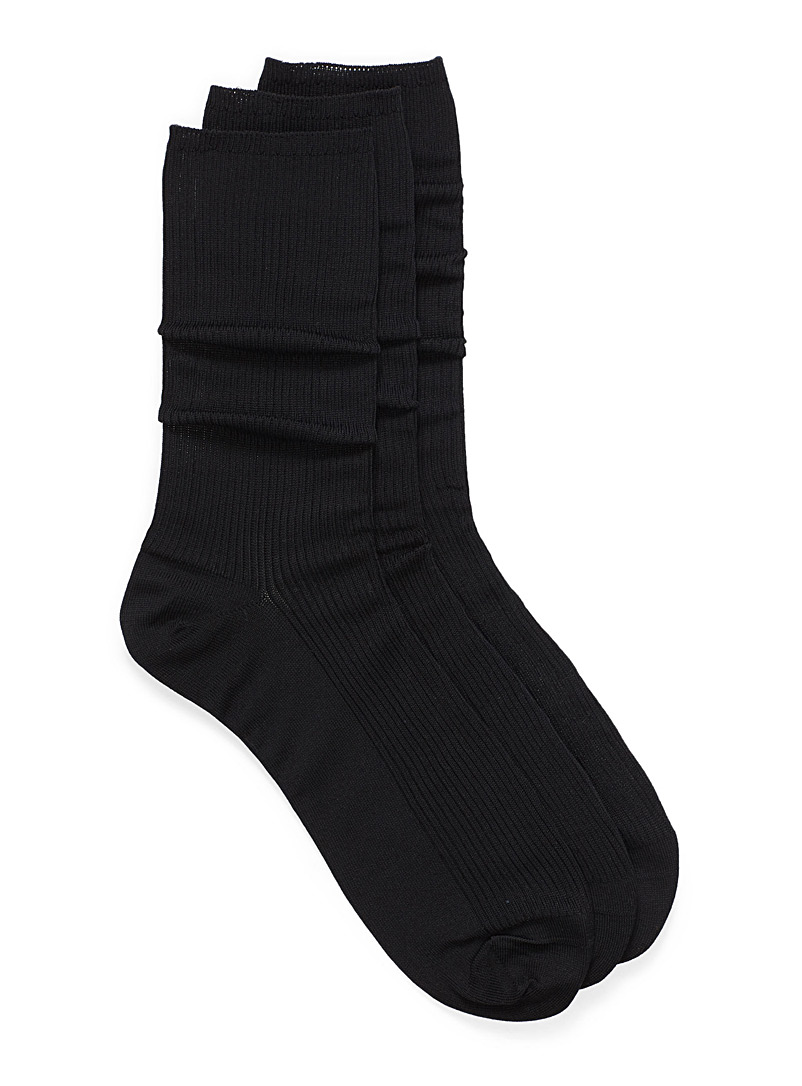 Non-elastic sock trio - Dressy socks - Black