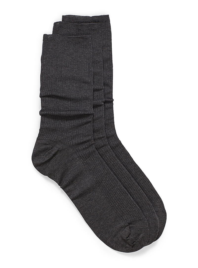 McGregor Charcoal Non-elastic sock trio for men