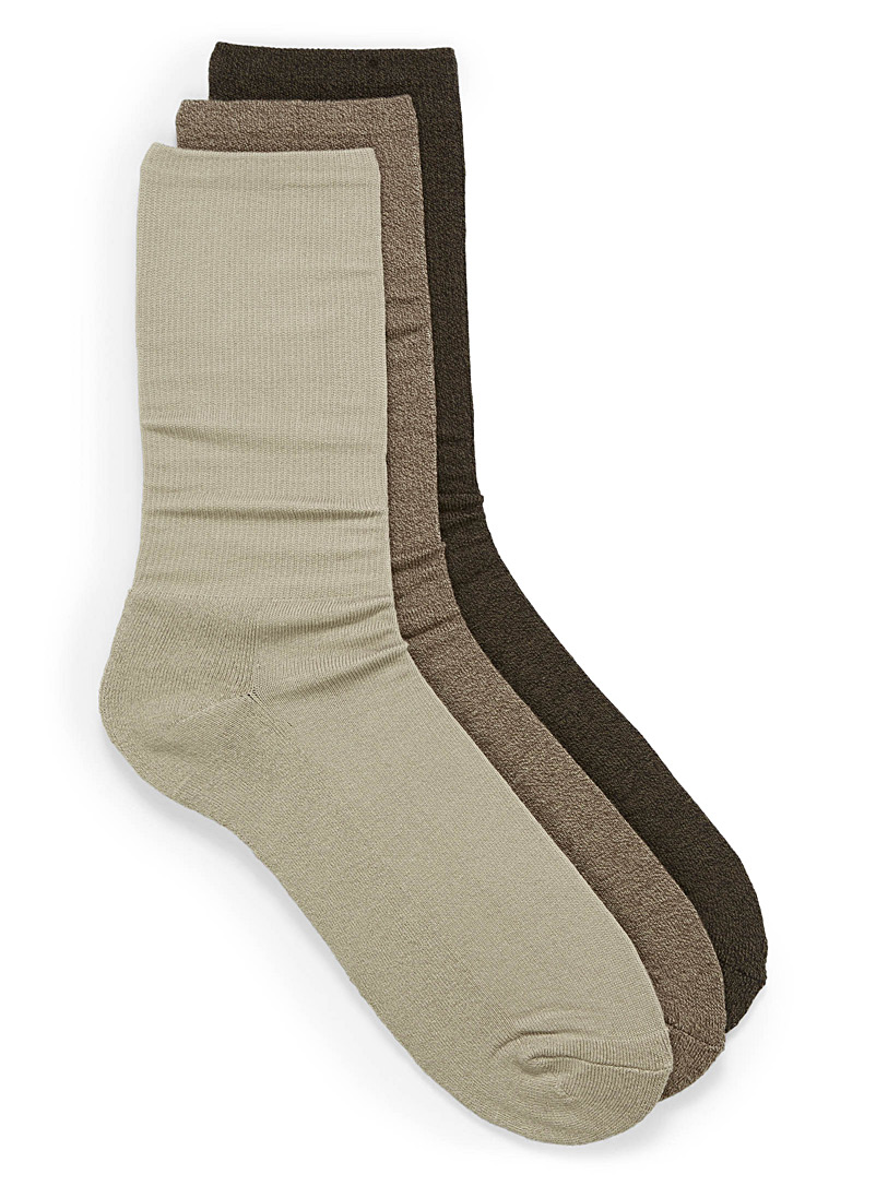 McGregor Black Pima cotton sock trio for men