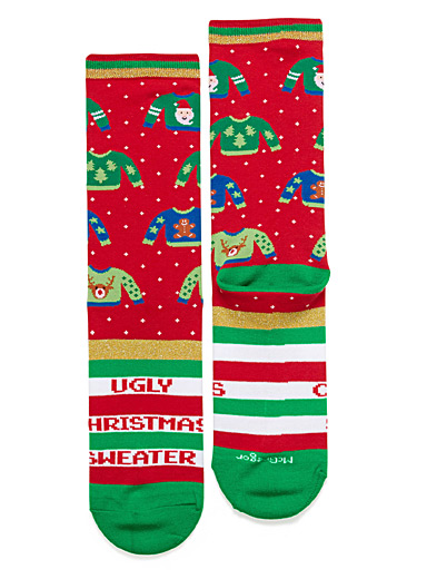 Kitsch Christmas sweater socks