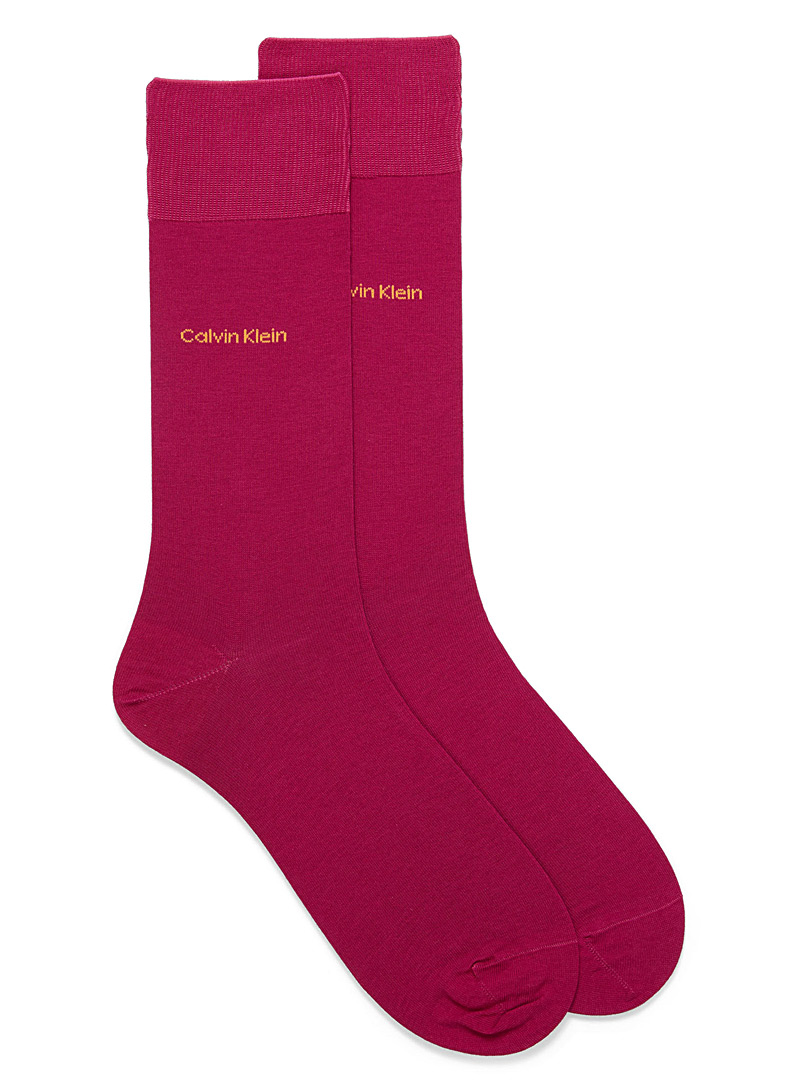 Egyptian cotton socks - Dressy socks - Ruby Red