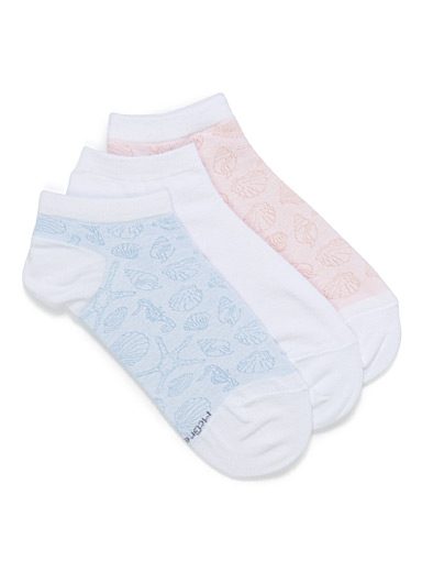 Pastel shell ped socks <br>Set of 3