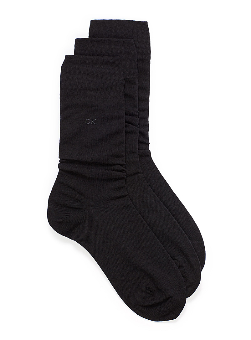 Combed cotton sock 3-pack - Dressy socks - Black