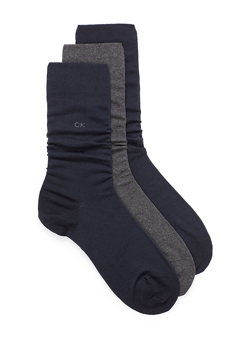 Combed cotton sock 3-pack - Dressy socks - Marine Blue