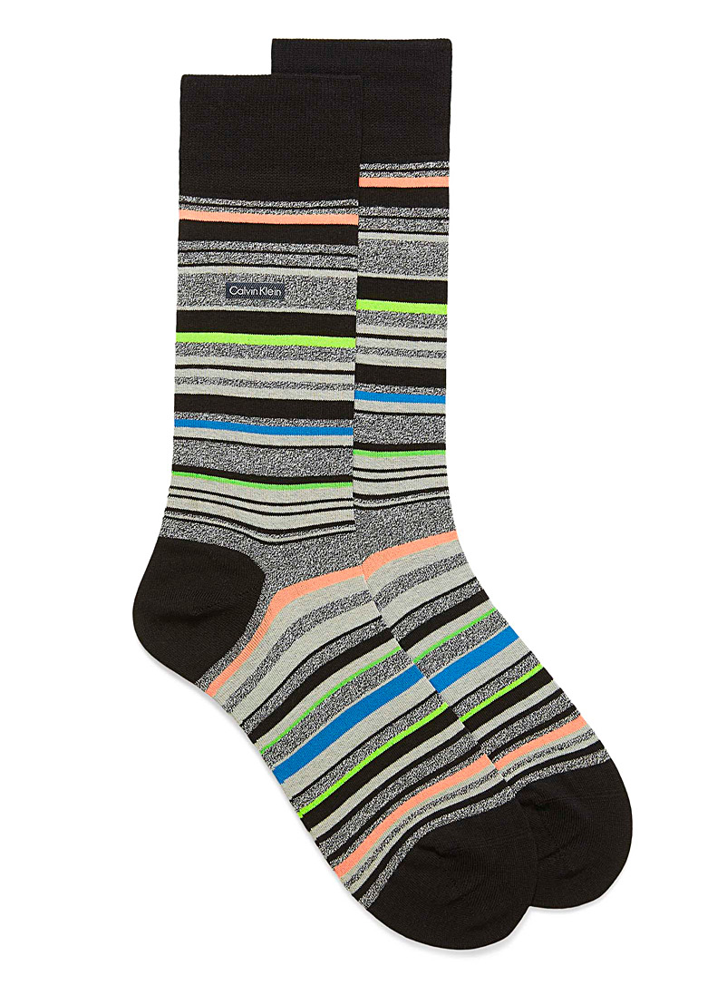 Calvin Klein Oxford Series striped socks for men